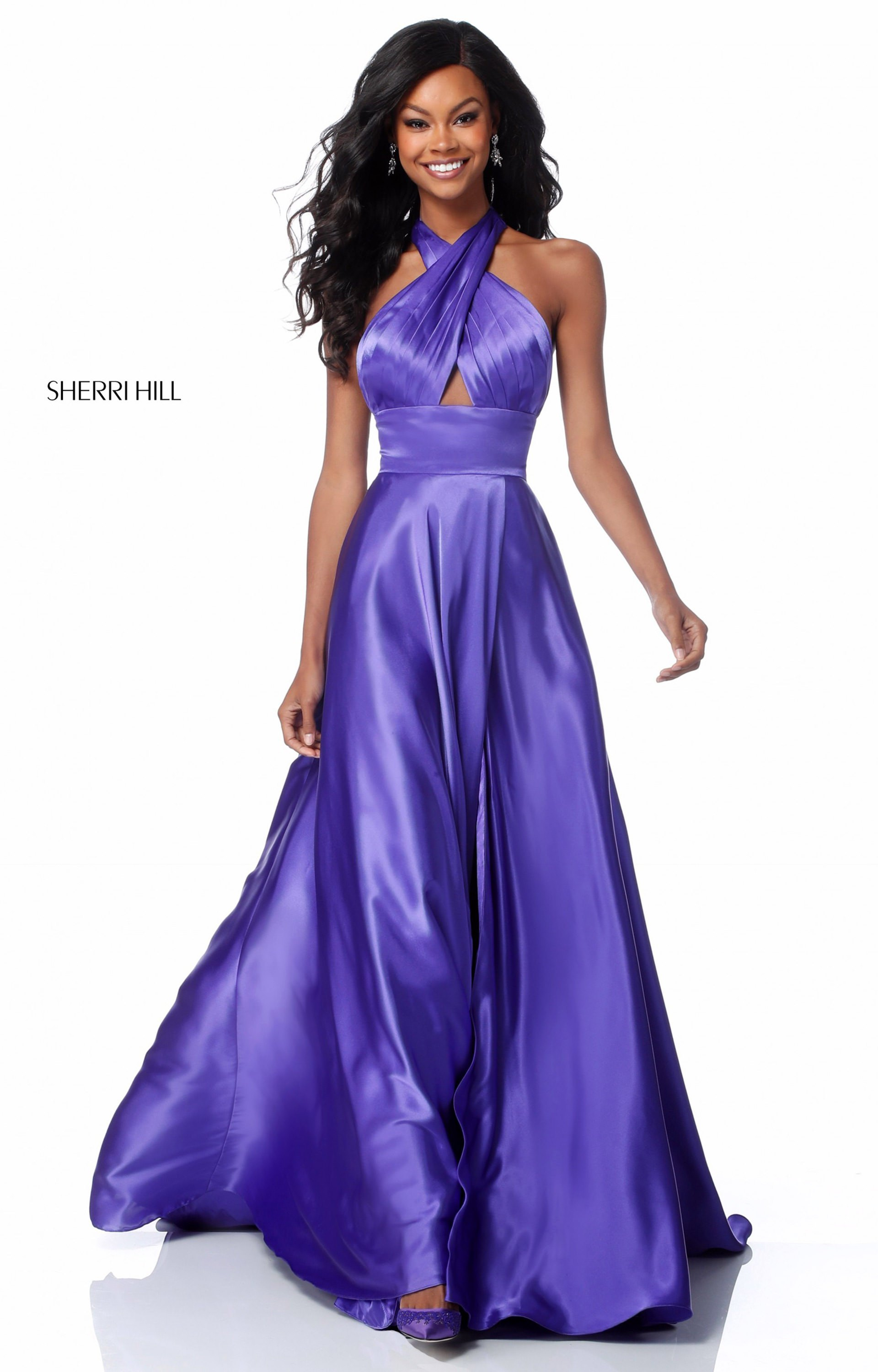 fba8dcda7e Sherri Hill 51897 - Long A-Line Charmeuse Prom Dress