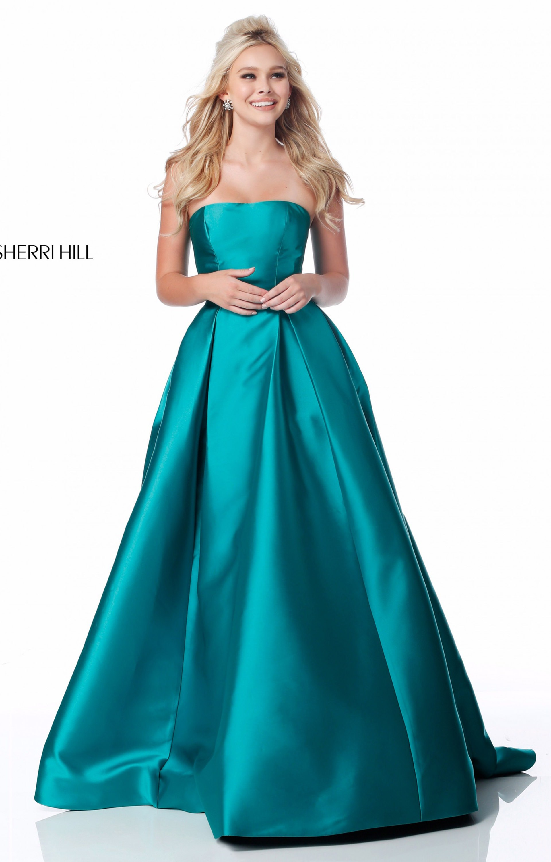 Sherri Hill 51917 - Strapless Mikado Ball Gown Prom Dress
