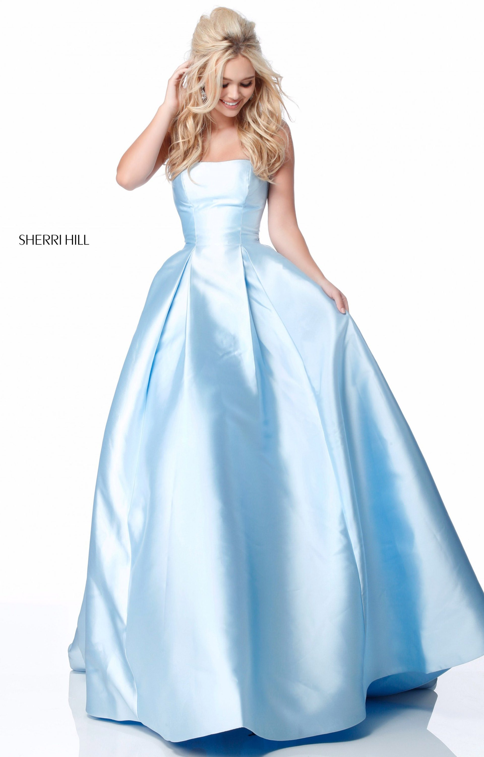 Sherri Hill 51917 - Strapless Mikado Ball Gown Prom Dress