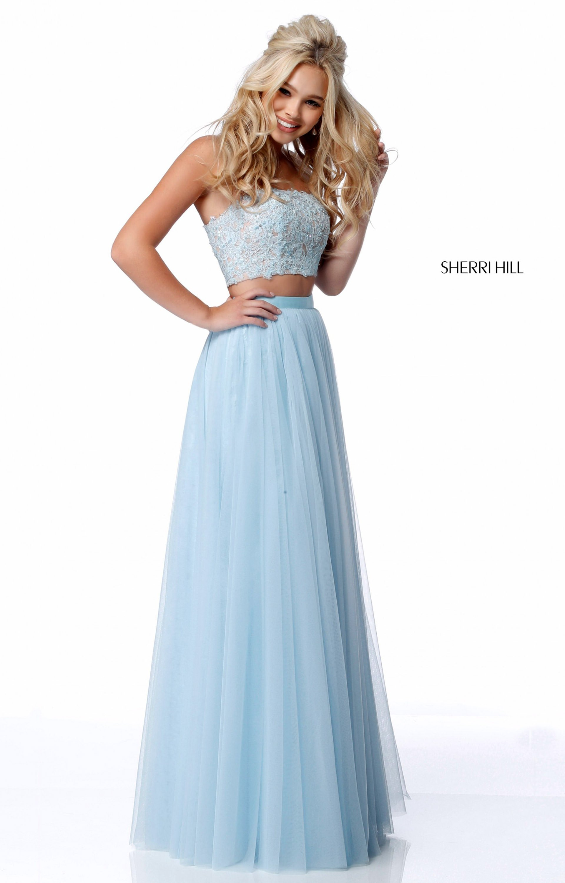 Sherri Hill 51922 - Strapless 2 Piece A-Line Tulle Prom Dress