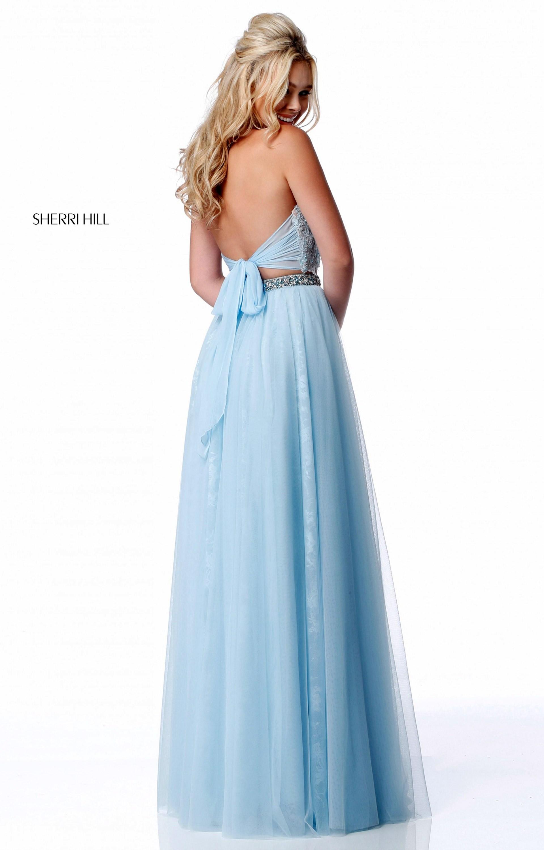 Sherri Hill 51924 - 2 Piece A-Line Soft Tulle Prom Dress