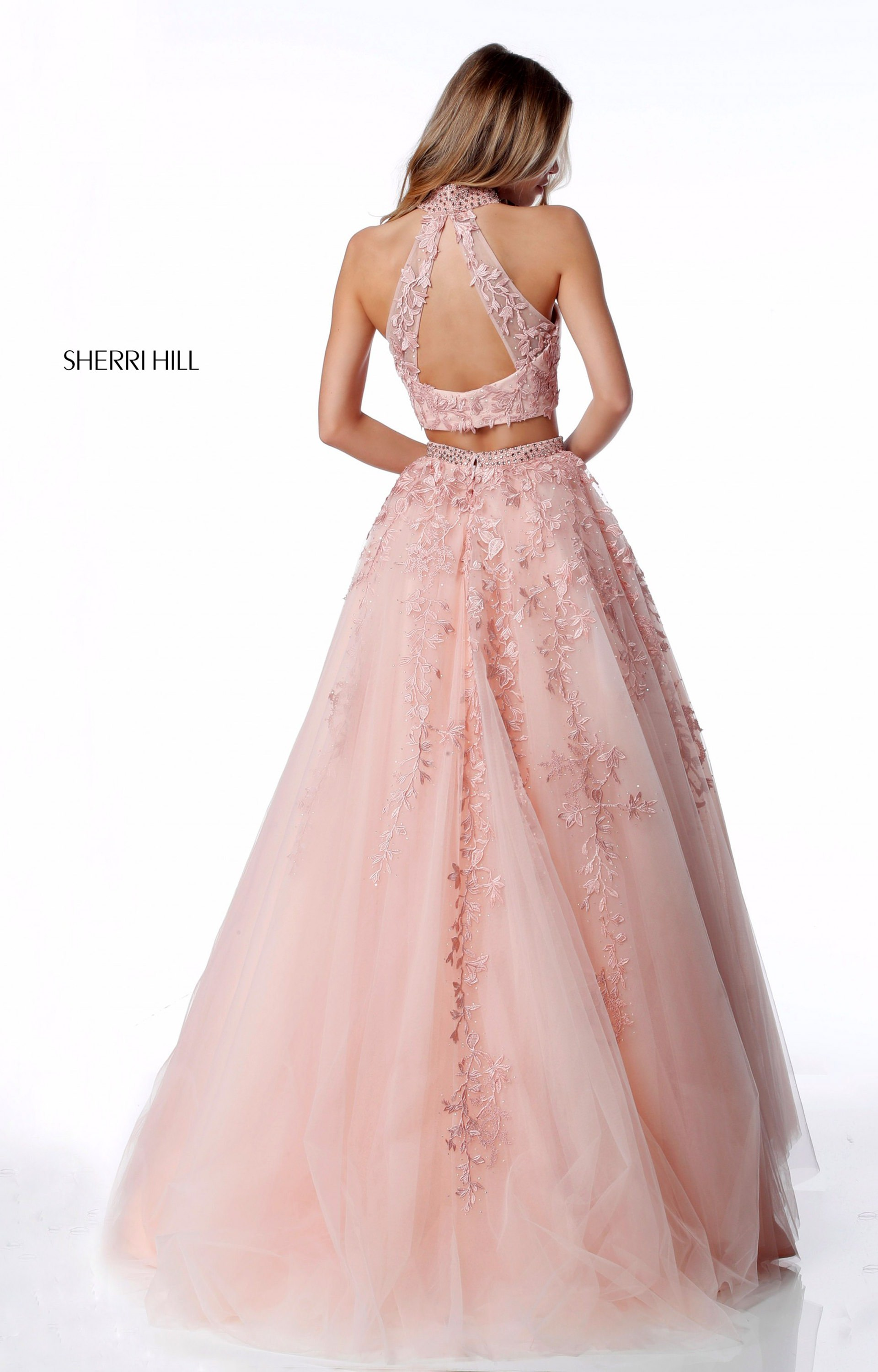 Sherri Hill 51925 2 Piece Tulle Ball Gown Prom Dress