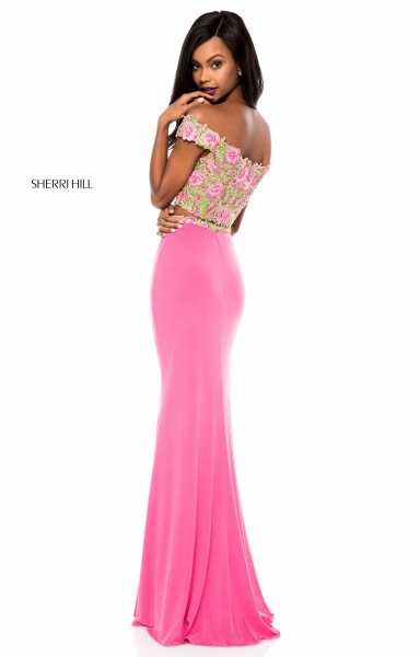 Sherri Hill 51951 Off The Shoulder and Sweetheart picture 1
