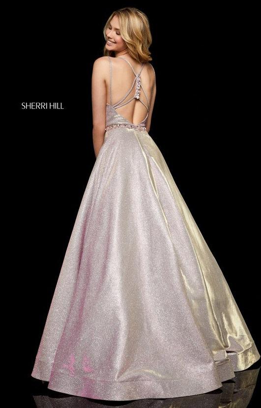 Sherri Hill 52124 - Long Glitter Ballgown with Thin Straps