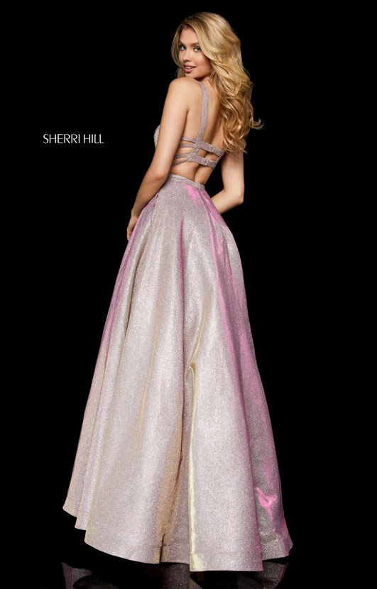 Sherri Hill 52138 - Long Glitter Dress with Straps Prom Dress