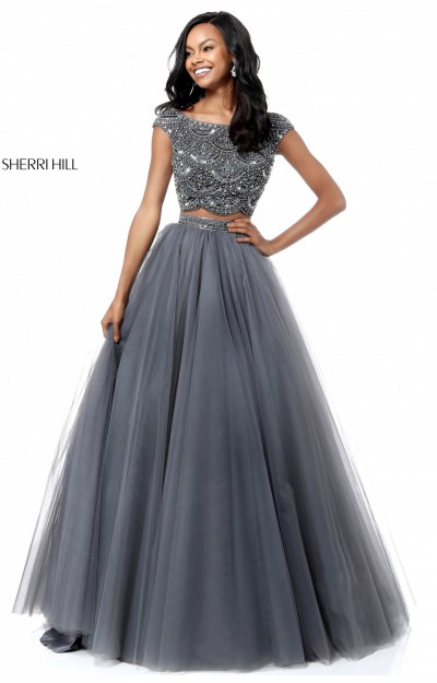 2 Piece Tulle Ball Gown