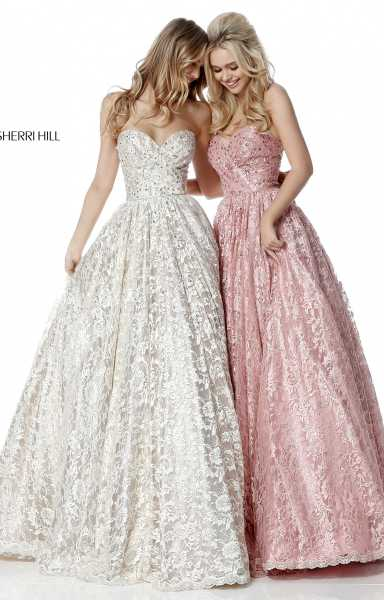 Sherri Hill 51574 Strapless and Sweetheart picture 1