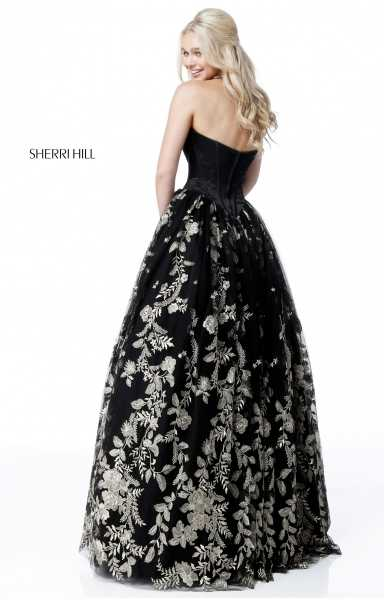 Sherri Hill 51595 Strapless and Sweetheart picture 1