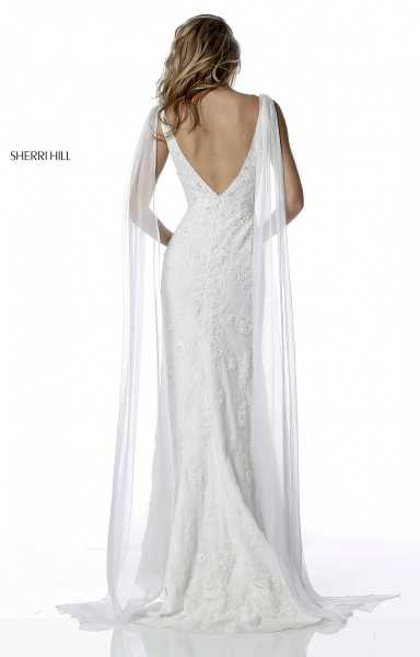 Sherri Hill 51599 Has Straps and V-Shape picture 1