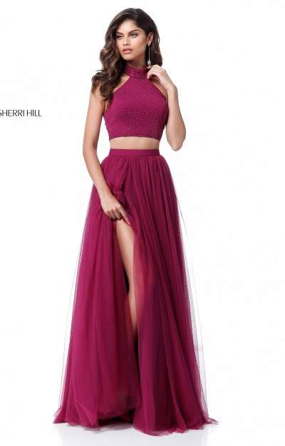 Long A-Line Tulle 2 Piece