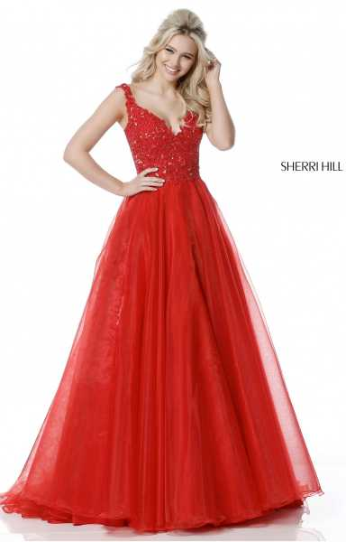 Sherri Hill 51839 Has Straps and V-Shape picture 1