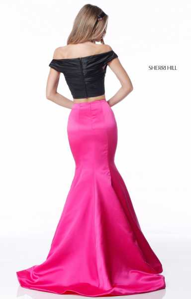 Sherri Hill 51855 Off The Shoulder and Sweetheart picture 1