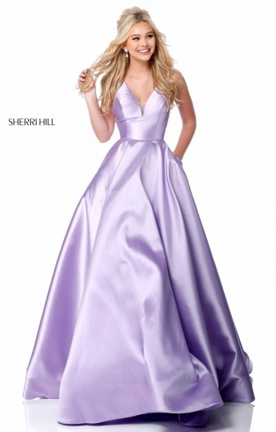 Long A-Line Mikado Ball Gown