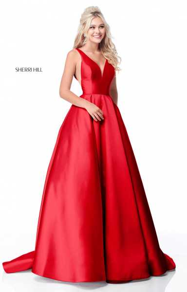 Sherri Hill 51856 Has Straps and V-Shape picture 1