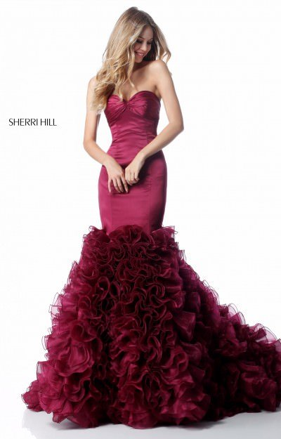 Strapless Organza Mermaid