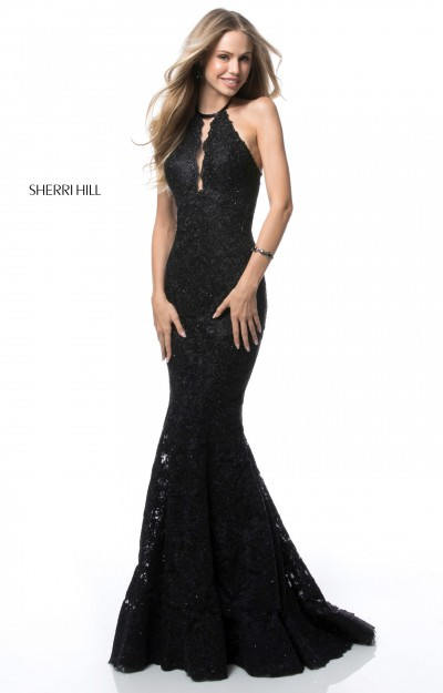 Fitted Lace Sleeveless Long Gown