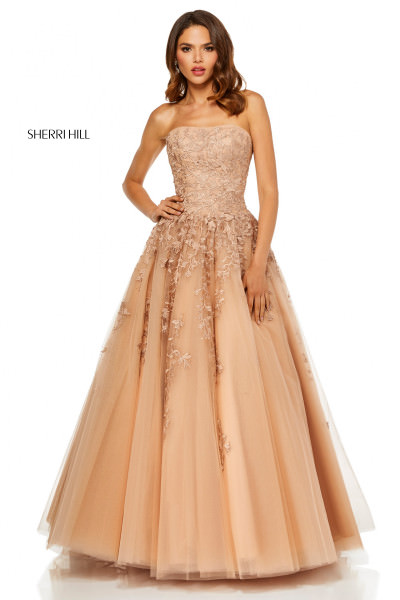 ed0ec59228f Sherri Hill 52341 · Sherri Hill 52341. Strapless Ball Gown  798.00
