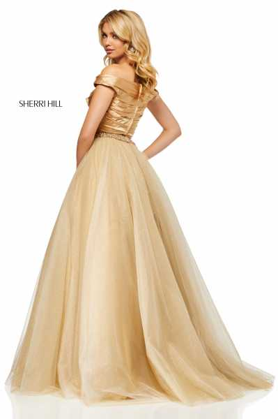 Sherri Hill 52406 Off The Shoulder picture 1
