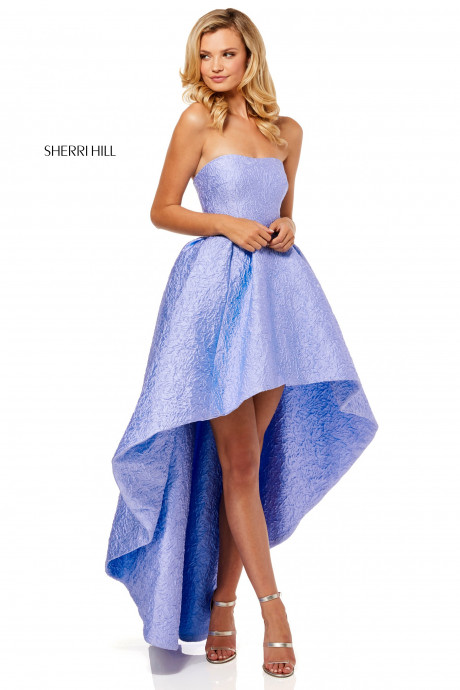 Sherri Hill 52418 Strapless High Low Gown