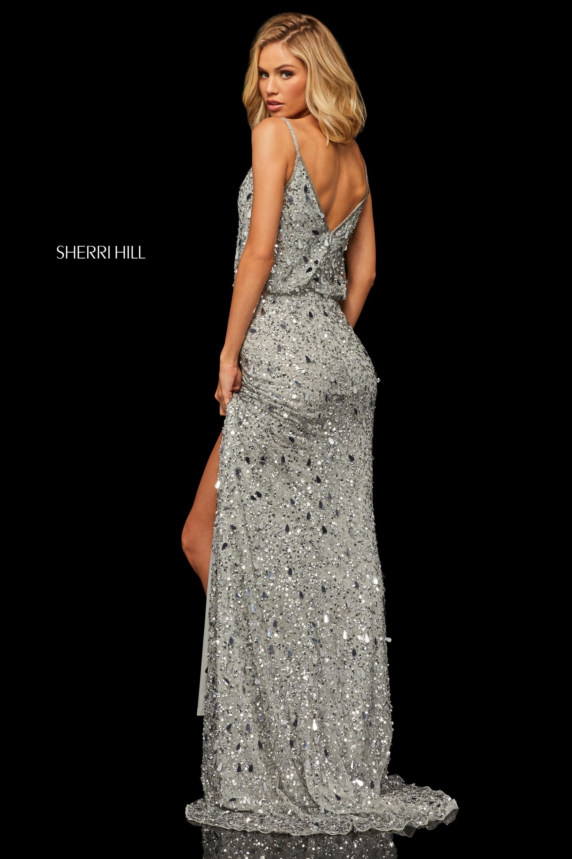 8a4c7c8fdf9 Sherri Hill 52452 - Silver Foxy Lady