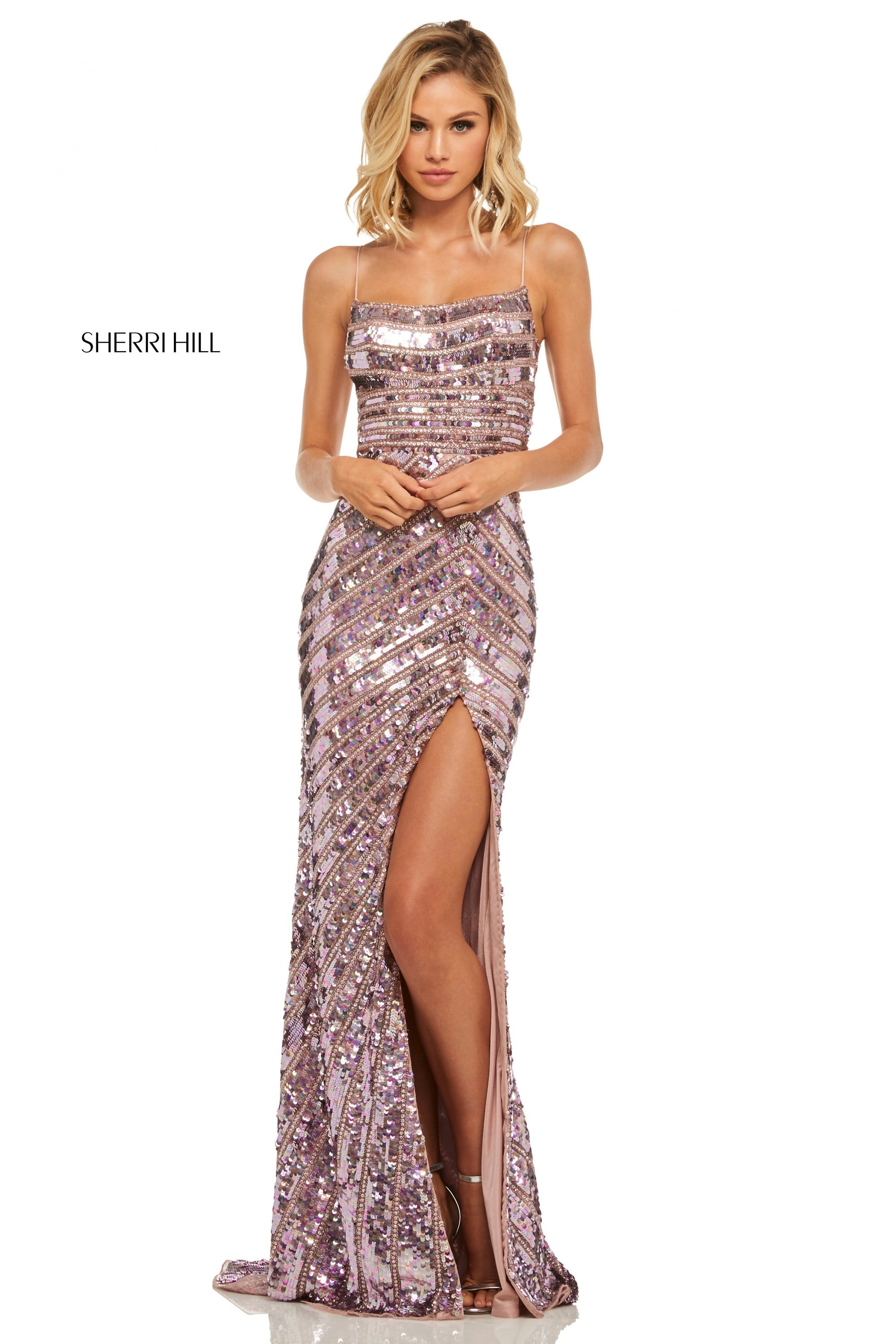 Sherri Hill 52558 Fitted Sequin Gown