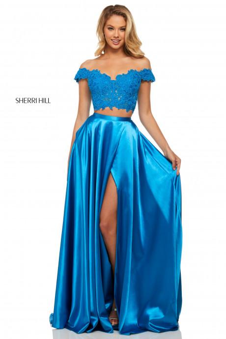 Sherri Hill 52567 Corset Like Two Piece Dress
