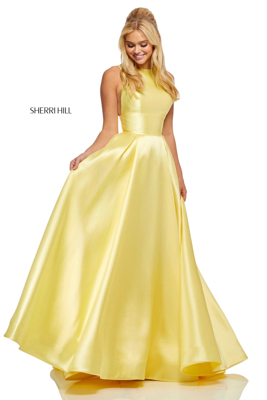 21825527d1 Sherri Hill 52572 - Simple High Neck Ballgown Prom Dress