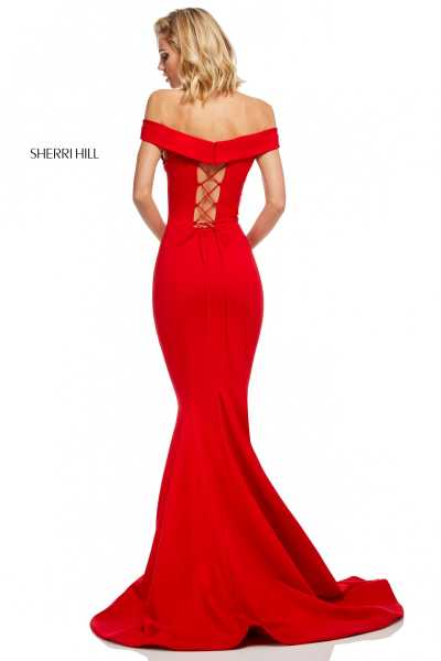 Sherri Hill 52607 Off The Shoulder picture 1