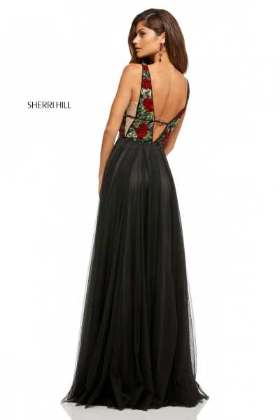 Sherri Hill 52714 Has Straps and V-Shape picture 1