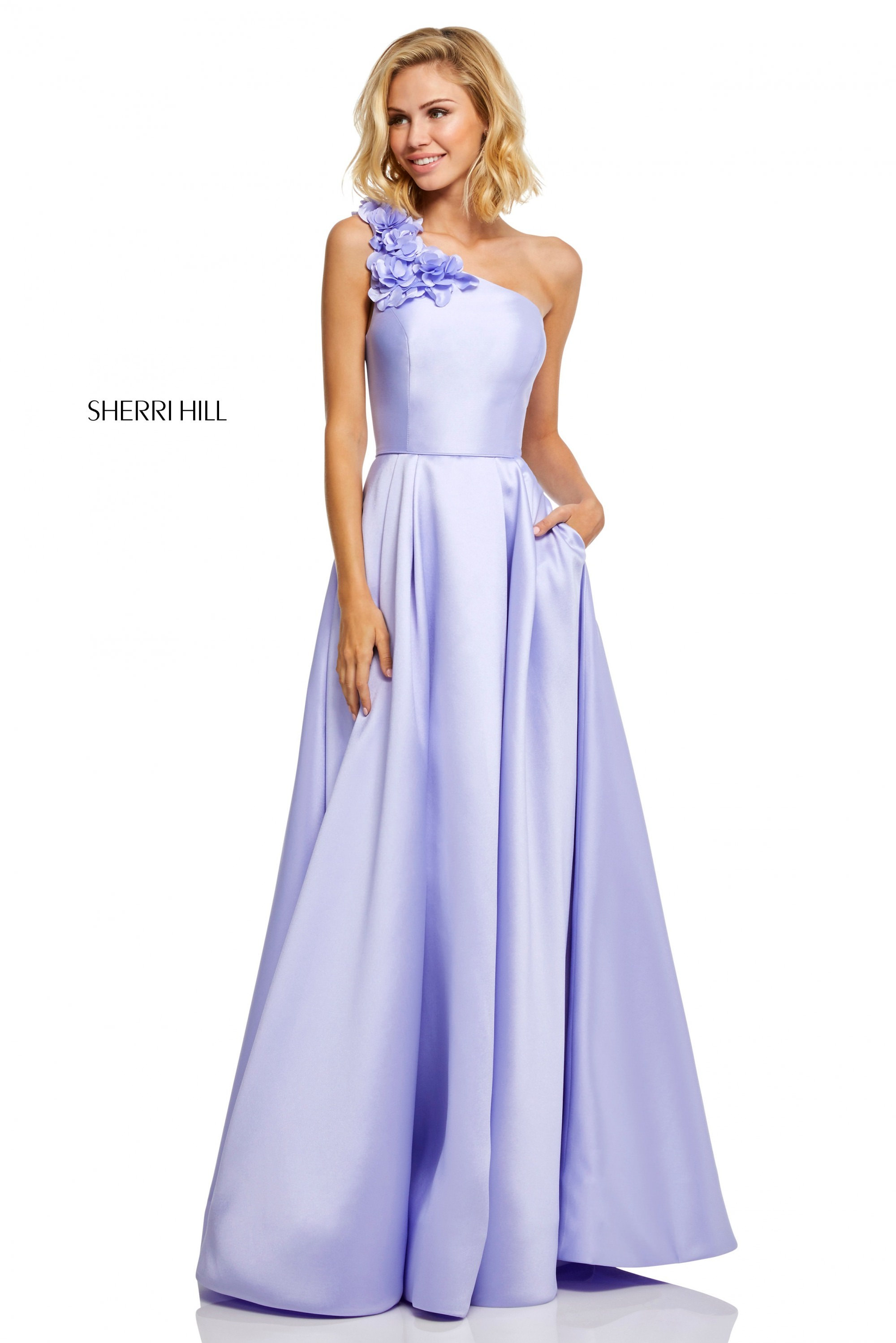 f6aa1b2e4 Sherri Hill 52720 - One Shoulder A-Line with 3D Floral Applique