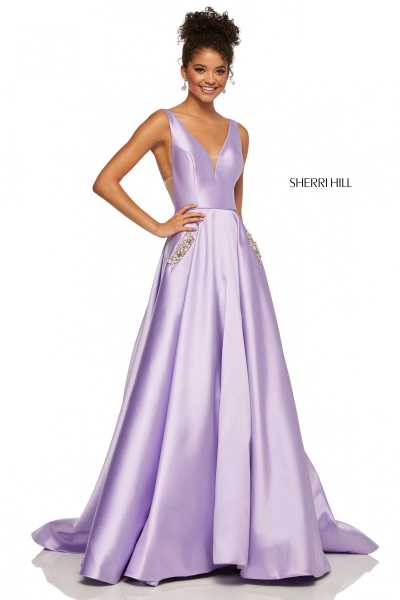Sherri Hill 52726 Has Straps and V-Shape picture 1