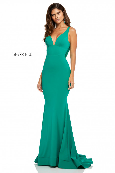 Sherri Hill 52790 Fit And Flare With Draped Back