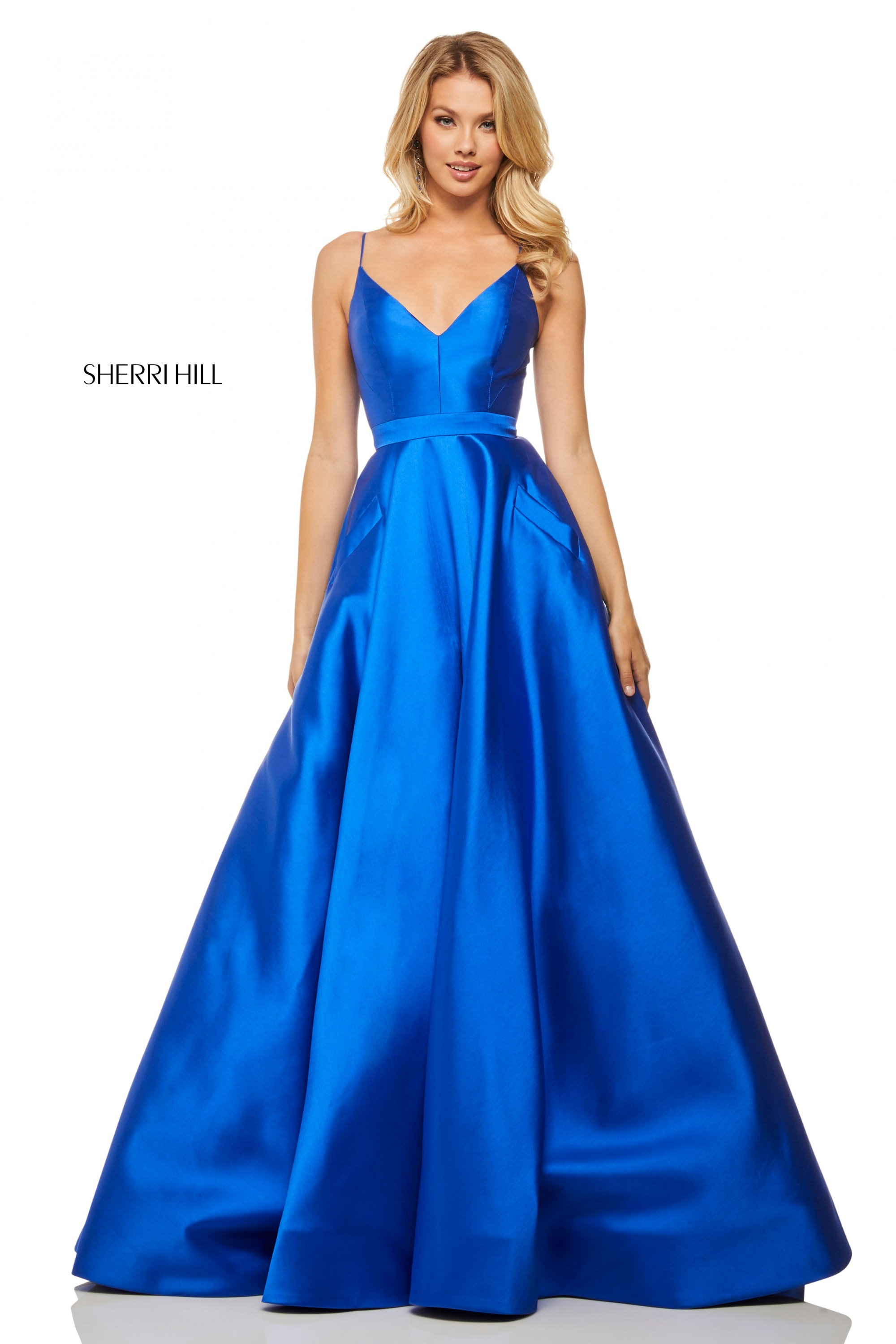 Sherri Hill 52821 - Simple V-Neck With Corset Back
