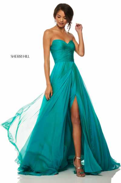 Sherri Hill 52840 Strapless and Sweetheart picture 1