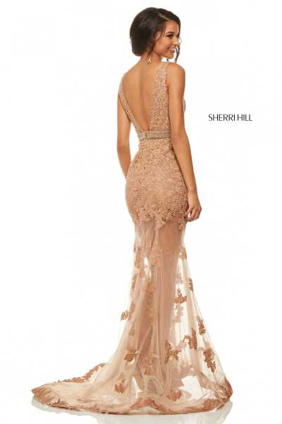 Sherri Hill 52875 Has Straps and V-Shape picture 1