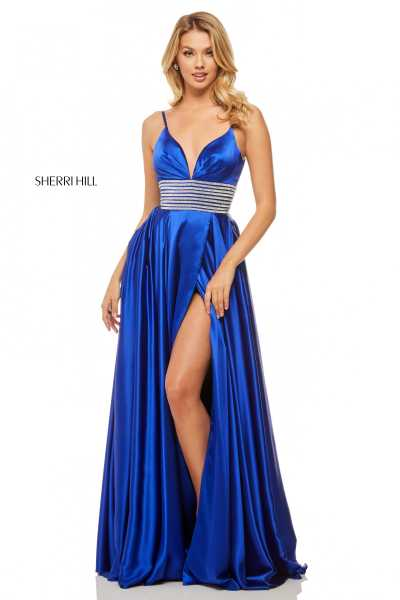 Sherri Hill 52906 Has Straps and V-Shape picture 1
