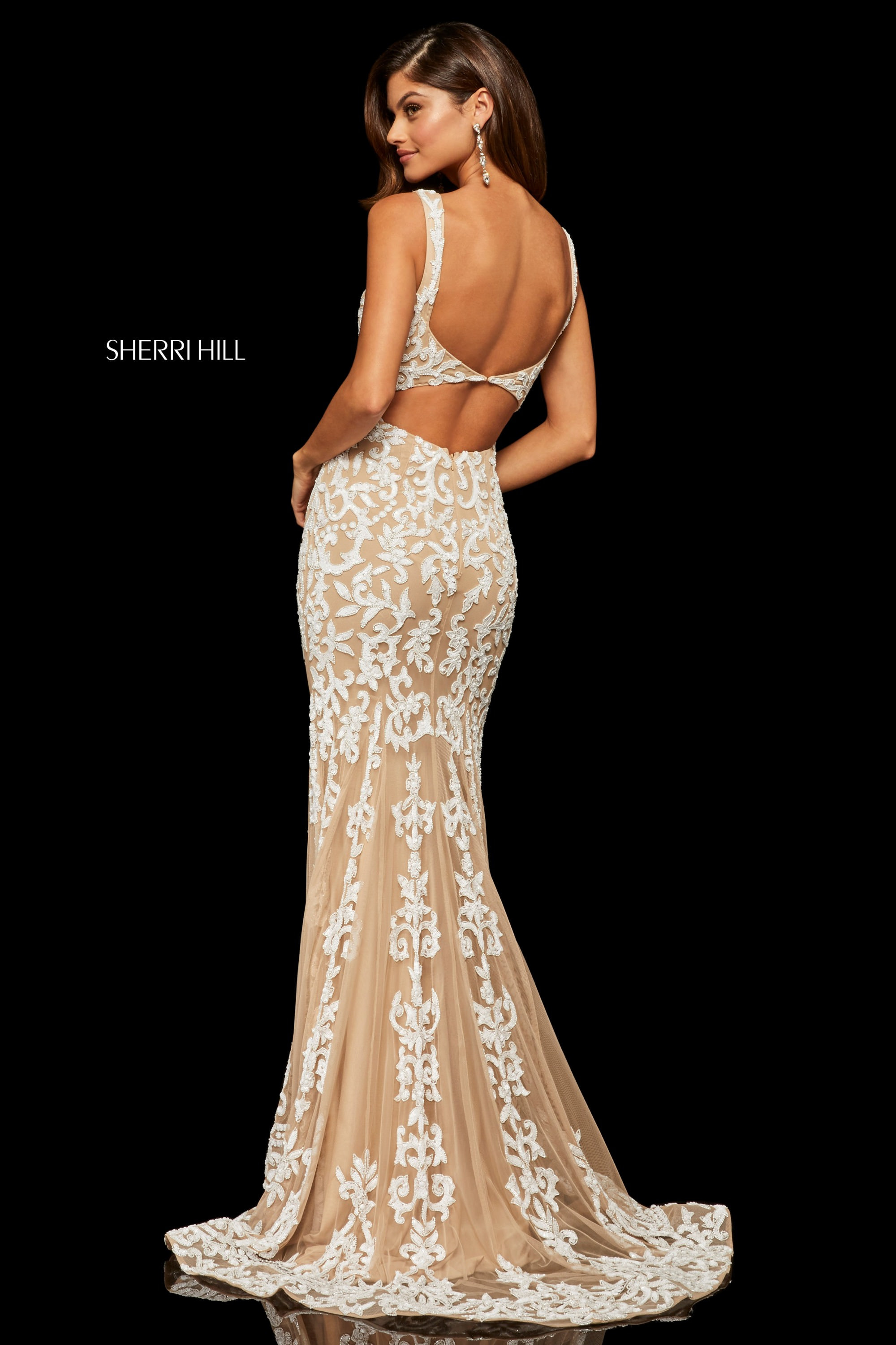 Sherri Hill 52925 Fitted Beaded Detailed Dress