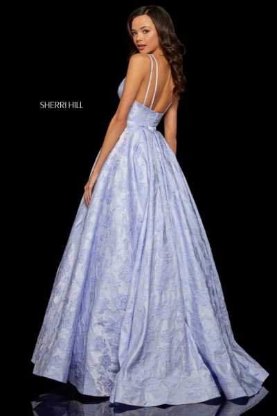 Sherri Hill 52953 Has Straps and V-Shape picture 1