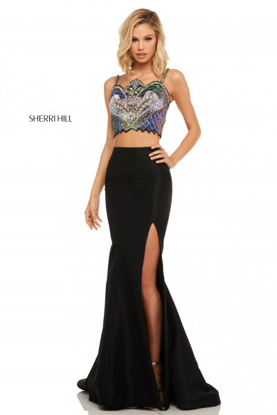 20e753291f25 Two-Piece with High Neck $398.00. Sherri Hill 52466