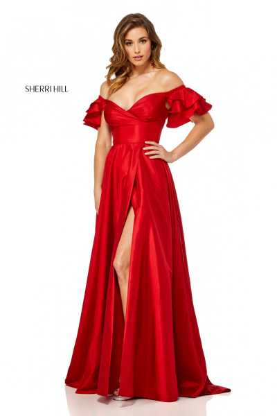 Sherri Hill 52469 Off The Shoulder picture 1
