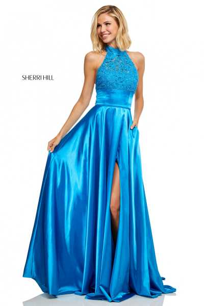 Sherri Hill 52492 Halter and High Neck picture 1