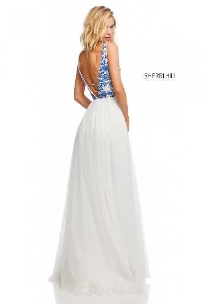 Sherri Hill 52672 Has Straps and V-Shape picture 1