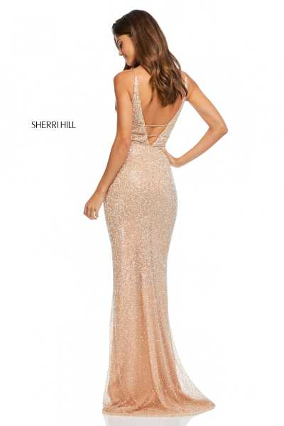 Sherri Hill 52689 Has Straps and V-Shape picture 1