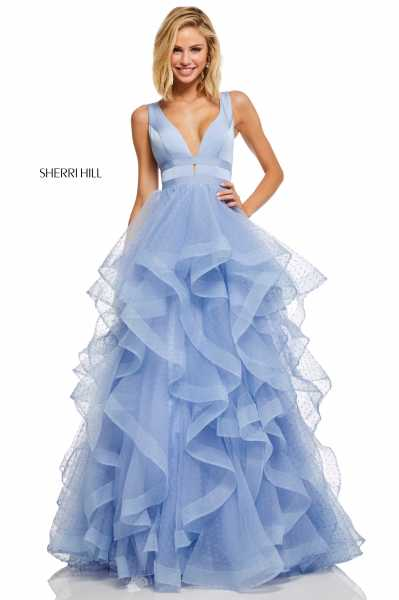 Sherri Hill 52691 Has Straps and V-Shape picture 1