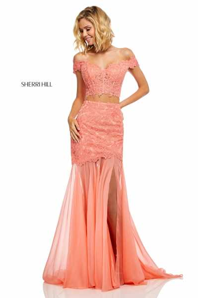Sherri Hill 52719 Off The Shoulder picture 1