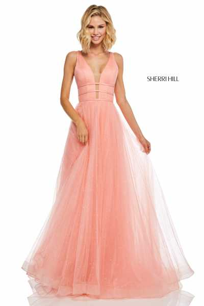 Sherri Hill 52737 Has Straps and V-Shape picture 1