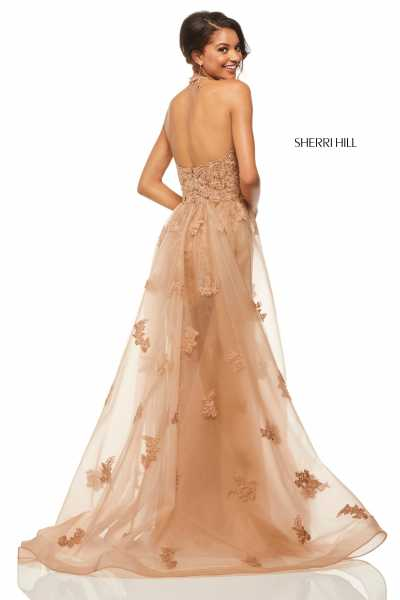 Sherri Hill 52819 Halter and V-Shape picture 1