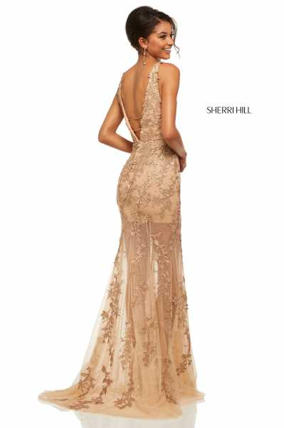 Sherri Hill 52820 Has Straps and V-Shape picture 1