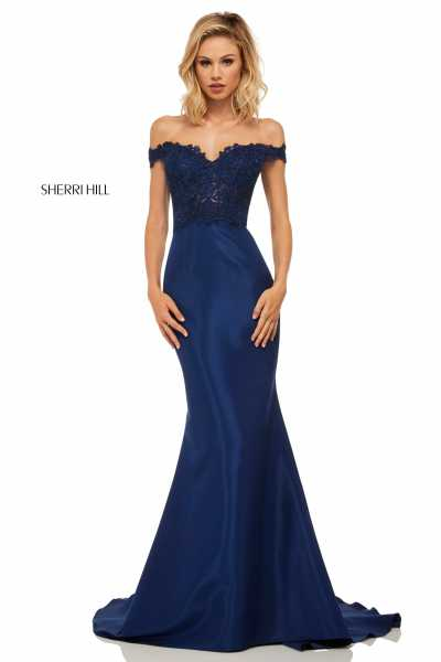 Sherri Hill 52874 Off The Shoulder picture 1