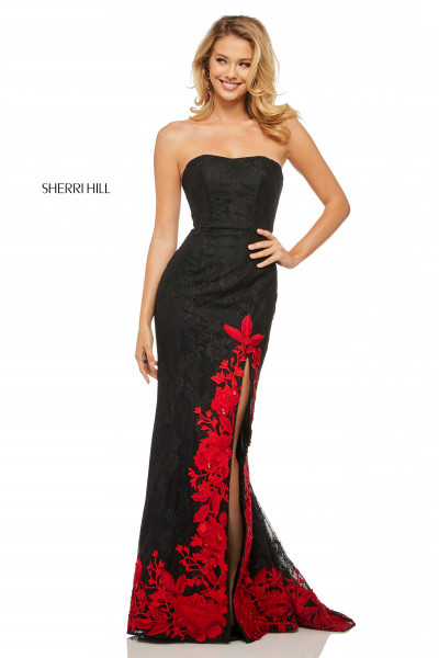 4c98c9017a Simple Strappy Ball Gown  398.00. Sherri Hill 52876